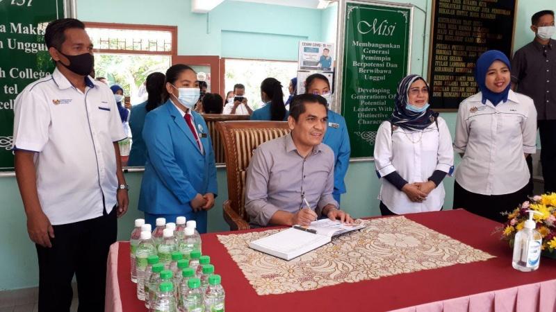 Lawatan Menteri Kanan Pendidikan Dr Radzi Jidin Ke Asrama Malaysia Sabah